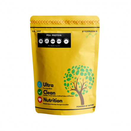 Flex Protein - European Pea Protein - Unflavoured-500gm - Pan India Delivery