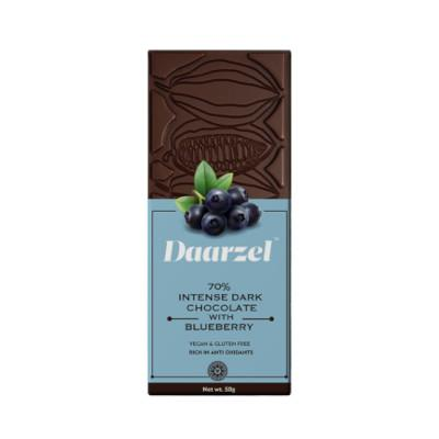 Ambriona - 70% Intense Dark Chocolate With Blueberry, 50g