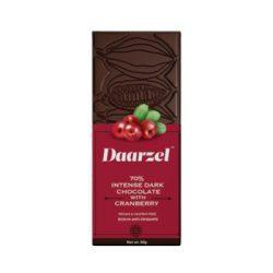 Ambriona - 70% Intense Dark Chocolate With Cranberry, 50g
