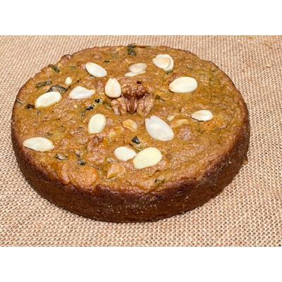 Gourmet Bakes - Whole Wheat Vegan Spiced Carrot Cake with Jaggery