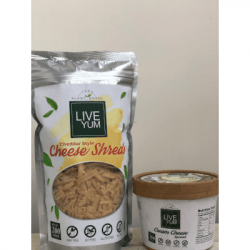 Live Yum - Vegan Cheddar Cheese Shreds 200gms